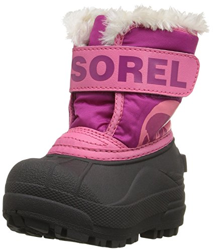 Sorel Toddler Snow Commander, Botas Unisex Niños, Rosa (Tropic Pink/Deep Blush), 21 EU