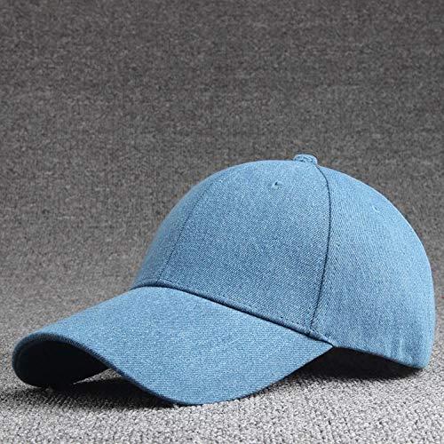 Casquette de baseball unisexe de couleur unie Réglable bleu foncé