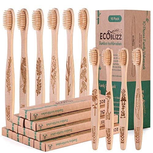 Cepillos De Dientes De Bambú Cerdas Suaves Marca Premiumswede
