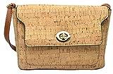 CK29 Bolso de Corcho Monedero de Corcho Bandolera Mujer Bolso Vegano No Cuero Bolso de Mujer Respetuoso del Medio Ambiente Bolsa de Tela de Corcho Corcho Beige