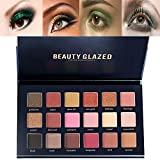 Beauty Glazed 18 Colors Rose Gold Textured Eyeshadow Palette Makeup Contour Metallic Eye Shadow Palette