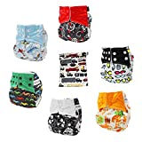 Best All In One Cloth Diapers - All in One Shell-Snap Cloth Pocket Diapers,Adjustable Size,6 Review