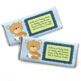 Boy Baby Teddy Bear - Candy Bar Wrappers Baby Shower Favors - Set of 24