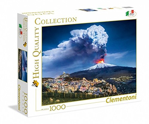 Clementoni- High Quality Collection-Etna Puzzle, 1000 Pezzi, Multicolore, 39453