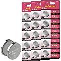 15-Count KaPonsec CR2025 3V Lithium Coin Battery