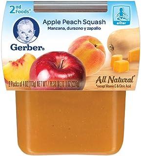 Gerber 2Nd Foods Apple Peach Squash, 4 oz.