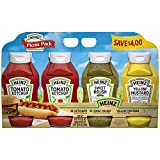 Made from the basics; using simple ingredients, Simply Heinz condiments provide simple ingredient lines and a traditional great Heinz taste Pack of 4: Perfectly convenient for any summer picnic or grilling occasion - Delicious on hot dogs and hamburg...