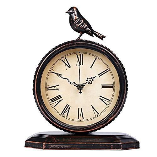 W.Z.H.H.H Reloj de Pared Personalidad Mudo del Reloj de Moda del Reloj Escritorio de la cabecera del Reloj de Tabla de Reloj Bird 23cm * 29cm