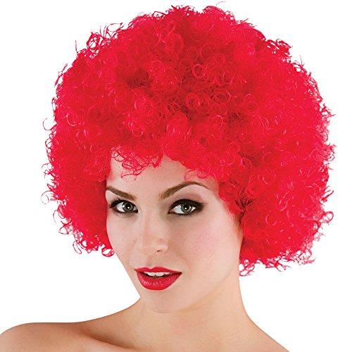 Funky Perruque Afro Rouge - Halloween / Carnaval Accessoire Fancy Dress 120Gm - Taille unique