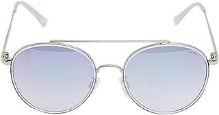 Esprit Women's Sunglasses Round White frame/gray gradient/silver mirror -ET39063-536-size 55-19-138mm