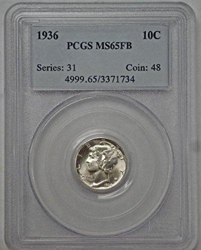 1936 Mercury Dime MS65FB PCGS