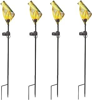 ASKLKD Lumière de cheminement de Feuilles solaires, LED Lampe à Pile Creux de Jardin à la pelouse à la pelouse extérieure ...