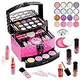 Amenvtool Kit de Maquillaje Niñas Lavables, 30 Pcs Juguete de Maquillaje, Regalo de Princesa para Niñas en Fiesta, Cumpleaños, Navidad para niñas mayores de 3 4 5 6 7+ años