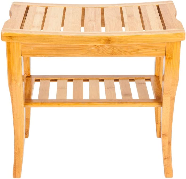 Teeker Bamboo Recommendation Shower Bench Mail order 19
