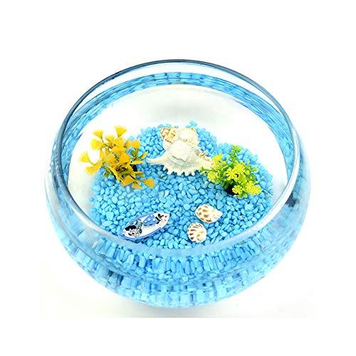 JNDM Decoración para pecera de paisajismo, simulación acuática, paquete de accesorios para el hogar, cristal redondo, pecera, pecera, pecera, pecera, pecera, transparente, pecera StyleName Size a
