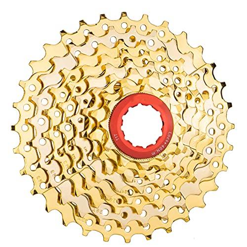 8 Velocidad Cassette Cassette Mountain Bike Flywheel Bike Cassette Spinning Freewheel 11-32t Diseño Hueco Cassette Sprocket Reemplazo Engranaje