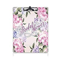 クリップボード A4 ブライダルシャワーの装飾 学用品A4 バインダー ぼろぼろのシックなアジサイの花の結婚式の花嫁の画像 A4 タテ型 クリップファイル ワードパッド ファイルバインダー 携帯便利紫と淡いピンク