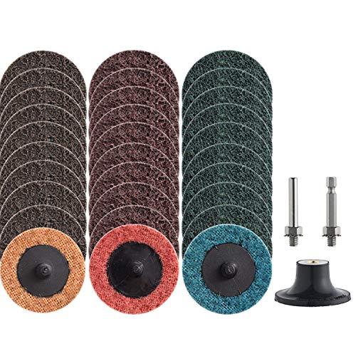 NYXCL 30Pcs 2inch Nylon Roloc Quick Change Sanding Discs Set, with 1/4