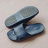 WENHUA Sandalias de Punta Descubierta, Zapatillas de baño, Pantuflas Suaves sin Fondo de baño de Verano para Mujer, Azul_43-44