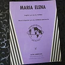 song sheet MARIA ELENA Lorenzo Barcelata , engl/ span