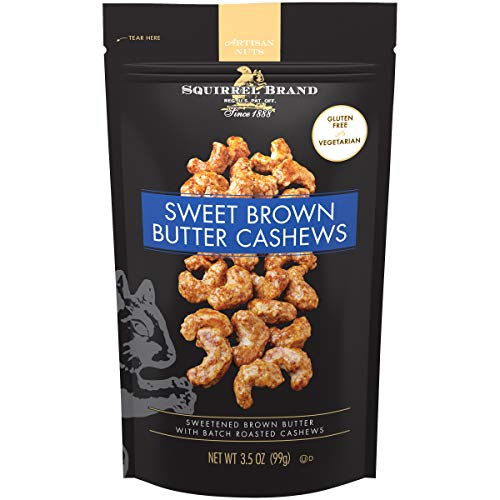 SQUIRREL BRAND Artisan Nuts Sweet Brown Butter Cashews, 3.5 oz
