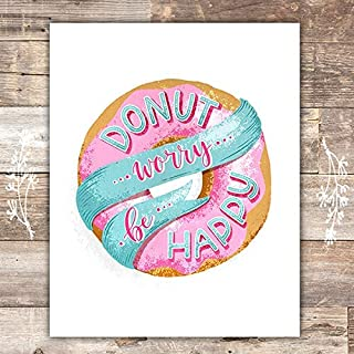 donut worry be happy printable