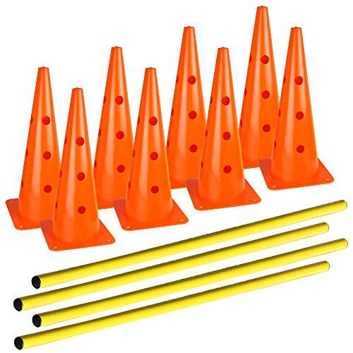 AGORA Hurdle Cone Set - 8 Cones and 4 Poles