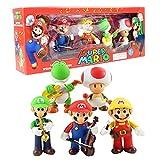 10-12 Cm 5 Unids / Lote Anime Super Mario Bros Band Mario Luigi Yoshi Toad PVC Figura De Acción Modelo Juguetes Muñeca