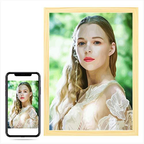 Wow! Gepersonaliseerde foto, schilderen op nummer voor portret bruiloft familie huisdier foto's Aangepaste digitale…