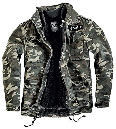 Black Premium by EMP Army Field Jacket Männer Winterjacke Camouflage M 100{677f85f5090cc4def122605f56a17952fc63dbeadbd3fb2ccad07bb2438924d7} Baumwolle Basics