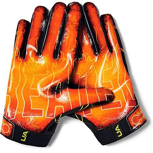 Under Armour Men's F7 Novelty Football Gloves , Black (001)/Black , Large