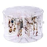 LM-Coat rack XINGLL Acrílico Vitrina Transparente, Caja De Cosméticos Prueba Polvo, Cubo Extraíble para Joyería, Piedras Preciosas, Collar, Pendientes, Almacenamiento, Estante Organizador