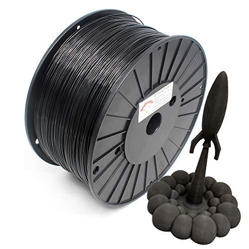 Reprapper Black PLA Filament for 3D Printer & 3D Pen 1.75mm (± 0.03mm) 6.6lb (3kg)