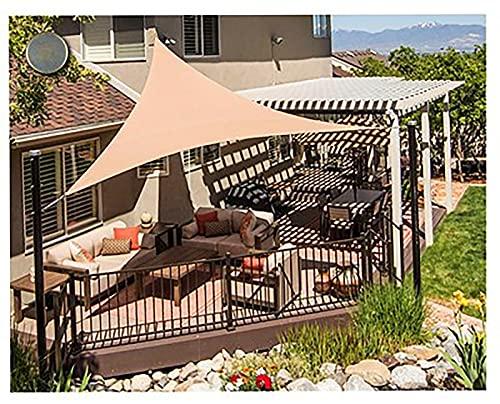 Toldo triangular multicolor con protección solar para cenador, patio, jardín, protección UV, toldo de vela de ventilación eficiente para jardín al aire libre, patio, fiesta (tamaño: 3.6 x 3.6 x 3.6 m)