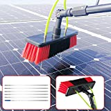 Water Fed Pole Kit Outdoor Window Cleaner Window Glass Solar Panel Cleaning Tool Window Cleaning Poles Water Fed Brush Spray...