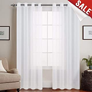 Best 90 inch length sheer curtains Reviews