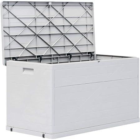 Mewmewcat Auflagenbox Wasserdicht Gross 420 L Gartenbox Kunststoff Kissenbox Aufbewahrungsbox Garten Gartentruhe Geratebox Fur Indoor Und Outdoor 120x56x63 Cm Hellgrau Amazon De Sport Freizeit