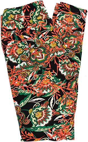 Lularoe Flower Leggings (OS) Fits Pants Size 0-10 (1670)
