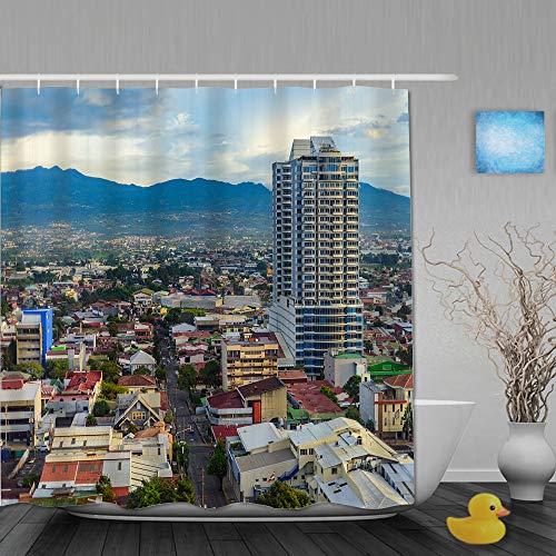SUHOM Cortina de Ducha,San José Costa Rica Ciudad Capital,Tejido de poliéster - con Gancho,180x210