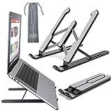 Support pour ordinateur, support de tablette, support pour téléphone pliable et ventilé 6 niveaux d'angles réglables en...
