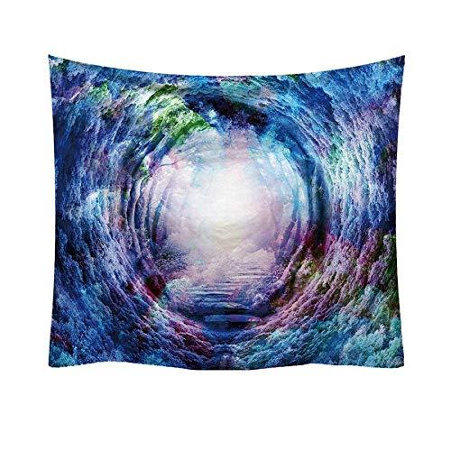 Xmiral Tapisserie Wandbild Dekoratives 3D Wirbel Drucken Tischdecke Wanddeko Hängen Tapestries 95x73cm(G)