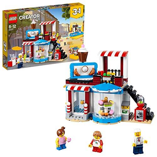 LEGO Creator - Pastelería Modular, Juguete de Construcción Educativo y Divertido para Niñas y Niños de 8 a 12 Años, Incluye Minifiguras (31077)