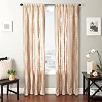 Softline Home Fashions Cozumel Series Boucle Window Curtain/Drape/Panel/Treatment, Wheat, 55 x 96