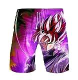 WANHONGYUE Anime Dragon Ball Z Goku Trajes de Baño Shorts de Playa Hombre 3D...