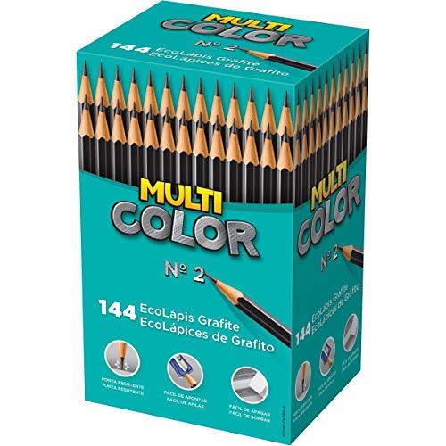 Faber-Castell EcoLápis Preto Grafite Redondo Super Eco N.2, Caixa com 144