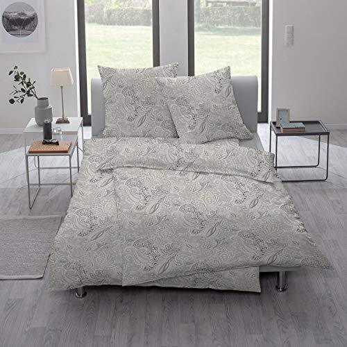ESTELLA Mako-Interlock-Jersey Yaren Silber 1 Bettbezug 135x200 cm + 1 Kissenbezug 80x80 cm