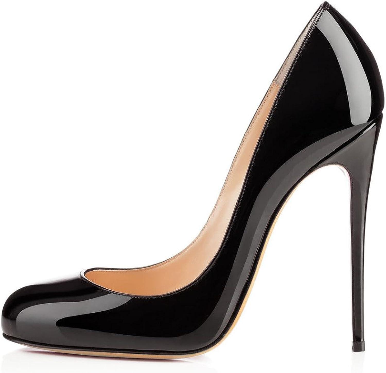 Elashe damen High Heel Heel Pumps  12cm Round Toe Stiletto Pumps   Classic Sexy Court schuhe  Kaufen Sie 100% authentische Qualität