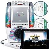 Singing Machine SML605W UA Tanzendes Wasserbrunnen Bluetooth Karaoke-System mit LED Disco Lichtern,...
