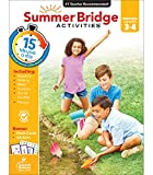 Summer Bridge Activities Workbook—Grades 3-4 Reading, Writing, Math, Science, Social Studies, Fitness Summer Learning Activity Book With Flash Cards (160 pgs)