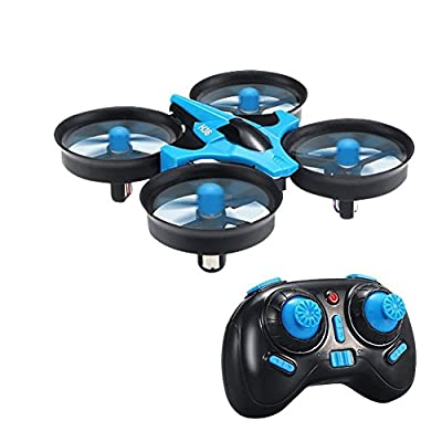 RC Quadcopter Drone,TECKEPIC H36 Mini UFO Drone 2.4G 4CH 6 Axis Headless Mode Remote Control One Key Return and 3D Flip Nano Quadcopter RTF Mode 2 for Kids and Beginners Drone Training